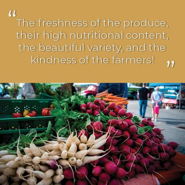 "What do you like best about the Nutrition Coupon Program? 😄 From one of our program participants: ""The freshness of the produce, their high nutritional content, the beautiful variety and the kindness of the farmers! And also their hard work!""  Celebrate nutrition month at your local farmers' market! Learn more about our program in our bio 🥦  #FarmersMarketsCount #LoveMyMarket #WhyFarmersMarkets #FarmersMarkets #ShopLocal #BCFarmersMarket #BCFarmersMarkets #BCFarmersMarketTrail"